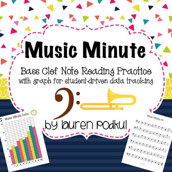 Music Minute - Bass Clef Note Reading Practice