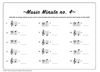 Music Minute Level 1 (Bass F to Treble G)