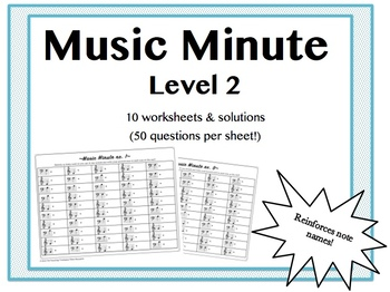 Music Minute Level 2 (Bass F to Treble G)