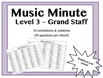 Music Minute Level 3 - Notes on the Grand Staff
