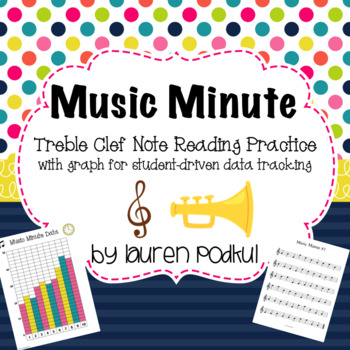 Music Minute - Treble Clef Note Reading Practice
