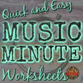 Music Minute WORKSHEET BUNDLE - Supplement for Elementary Music YouTube series