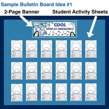 Winter Music Bulletin Board (Student-Made) & Activity Sheets