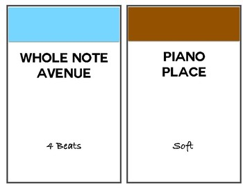 Music Monopoly Large Bulletin Board