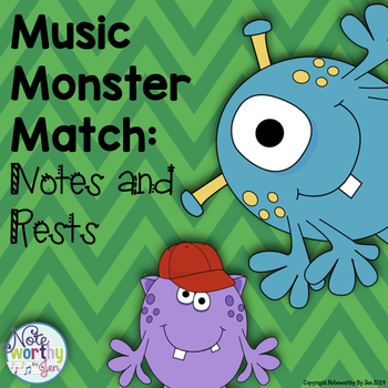 Note and Rest Monsters:  A Music Game
