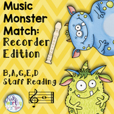 Recorder Center:  Treble Clef Notation and Fingerings BAGED