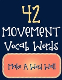 Music Movement Vocab Words