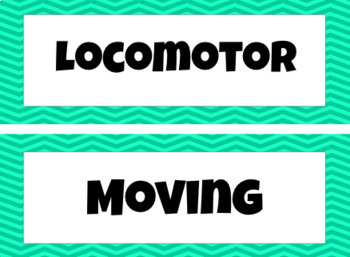 Music Movement Word Wall - Locomotor, Non-Locomotor, Pathways & Levels