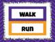 Music Movement Word Wall - Locomotor, Non-Locomotor, Pathways, & Levels
