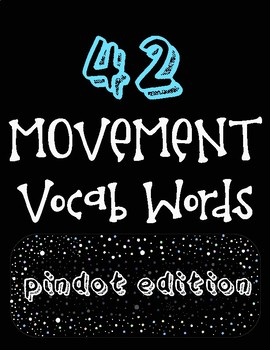 Music & Movement Word Wall Vocabulary