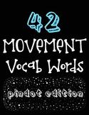 Music & Movement Word Wall Vocabulary