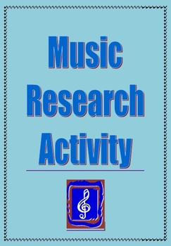 Music: Music research activity