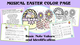 Music:  Musical Easter Color Sheet- note value identification