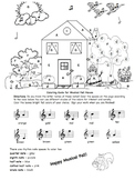 Music: Musical Fall House - Treble Clef Notes & Basic Note Values