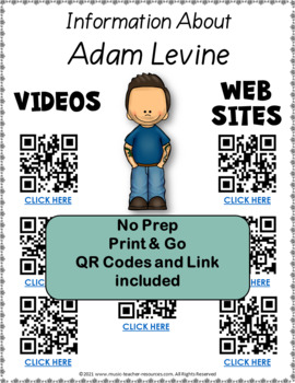 Music: Musicians - Adam Levine: Music Listening and Research Foldables