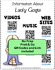 Music: Musicians - Lady Gaga: Music Listening and Research Foldables