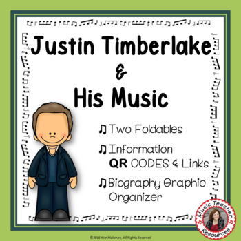 Music: Musicians - Justin Timberlake: Music Listening and Research Foldables