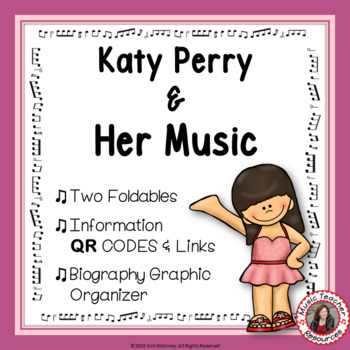 Music: Musicians - Katy Perry: Music Listening and Research Foldables