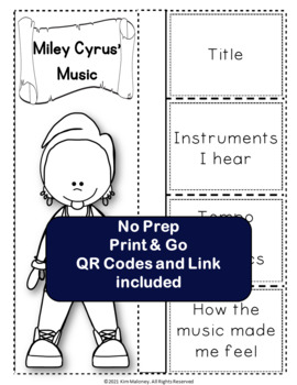 Music: Musicians - Miley Cyrus: Music Listening and Research Foldables