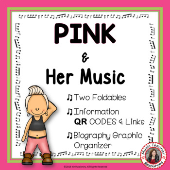 Music: Musicians - PINK: Music Listening and Research Foldables