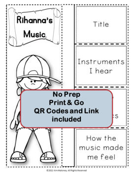 Music: Musicians - RIHANNA: Music Listening and Research Foldables