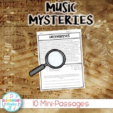 Music Mysteries - 10 Reading Passages