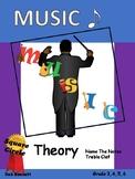 Music - Name the notes Treble clef no prep