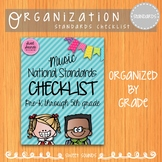 National Music Standards I Can Checklist {Brights}