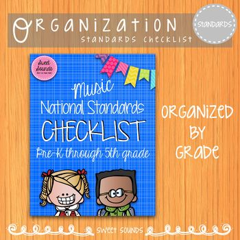 Music National Standards I Can Checklist {Rainbow}