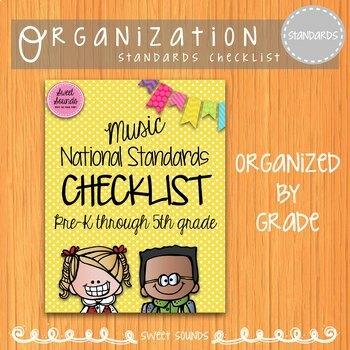 Music National Standards I Can Checklist {Polka Dot}