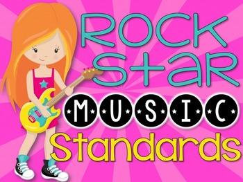 Music National Standards {Rock Star Music Room Set}