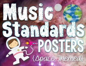 Music National Standards {Space THeme Music Room Set}