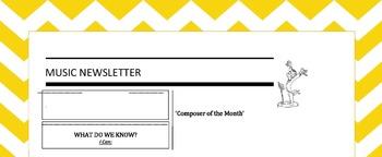 Music Newsletter Template