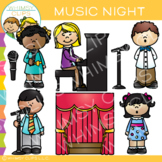 School Music Night Clip Art