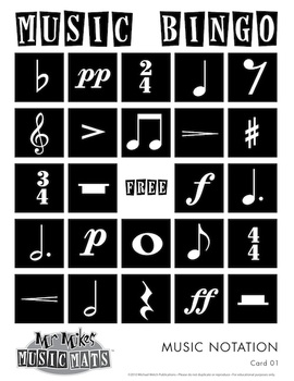 Music Notation Bingo / MrMikesMusicMats