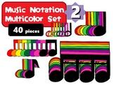 Music Notation Boomwhacker Colors Clip Art Set