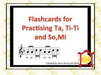 Music Notation Flashcards - Ta, Ti-Ti and So,Mi (Freebie)