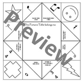 Music Notation Fortune Teller for 4th-5th Grade