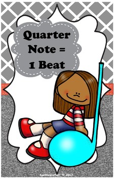 Music Notation Kids: Music Classroom Posters/Decor - 11 x 17 Size PDF Posters