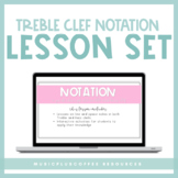 Music Treble Clef Notation Lesson for Google Slides™ | Dis