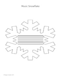 Music Notation Name Snowflake