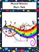 Music Notation Posters- Stars, Spots and Candy Stripes