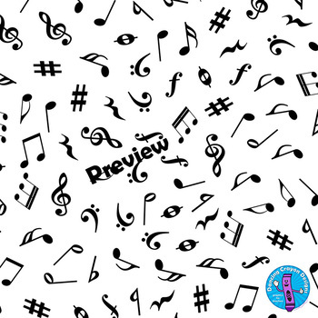 Music Note Backgrounds | Digital Papers with Music Design Clip Art
