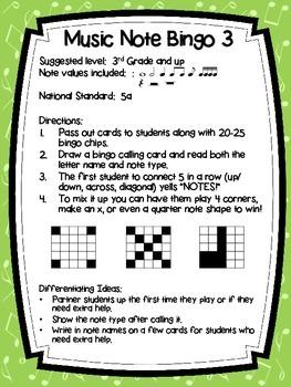 Music Note Bingo 3:  Ti, Tiri-Tiri