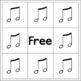 Music Note Bingo (6 bingo cards included)