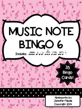 Music Note Bingo 6:  Tiri-Ti, Ti-Tiri, Eighth Rest