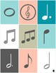Music Note Bingo #2 Game for Piano, Band, Orchestra, General Music, Chorus Class