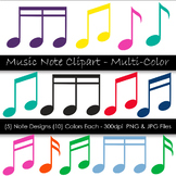 Music Note Clip Art - Colorful Music Notes