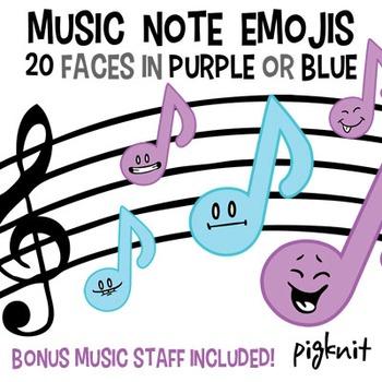 Music Note Emoji Clip Art   Band   Music Staff   Smiley Fa