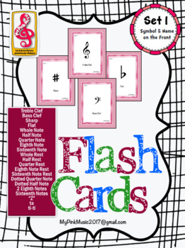Music Note Flash Cards! (FREEBIE included in download) set 1